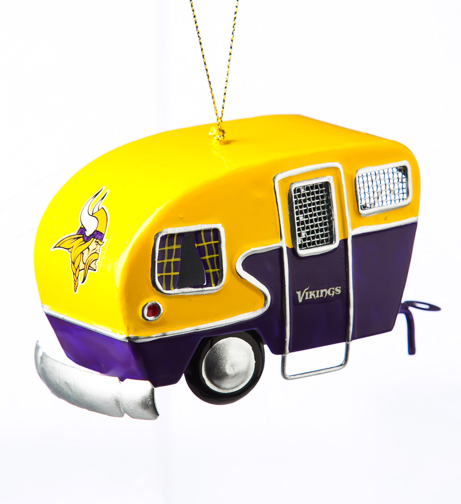 Minnesota Vikings Metal Camper Ornament