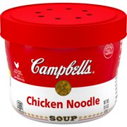 (4 pack) Campbell's Chicken Noodle Soup Microwavable Bowl, 15.4 oz.