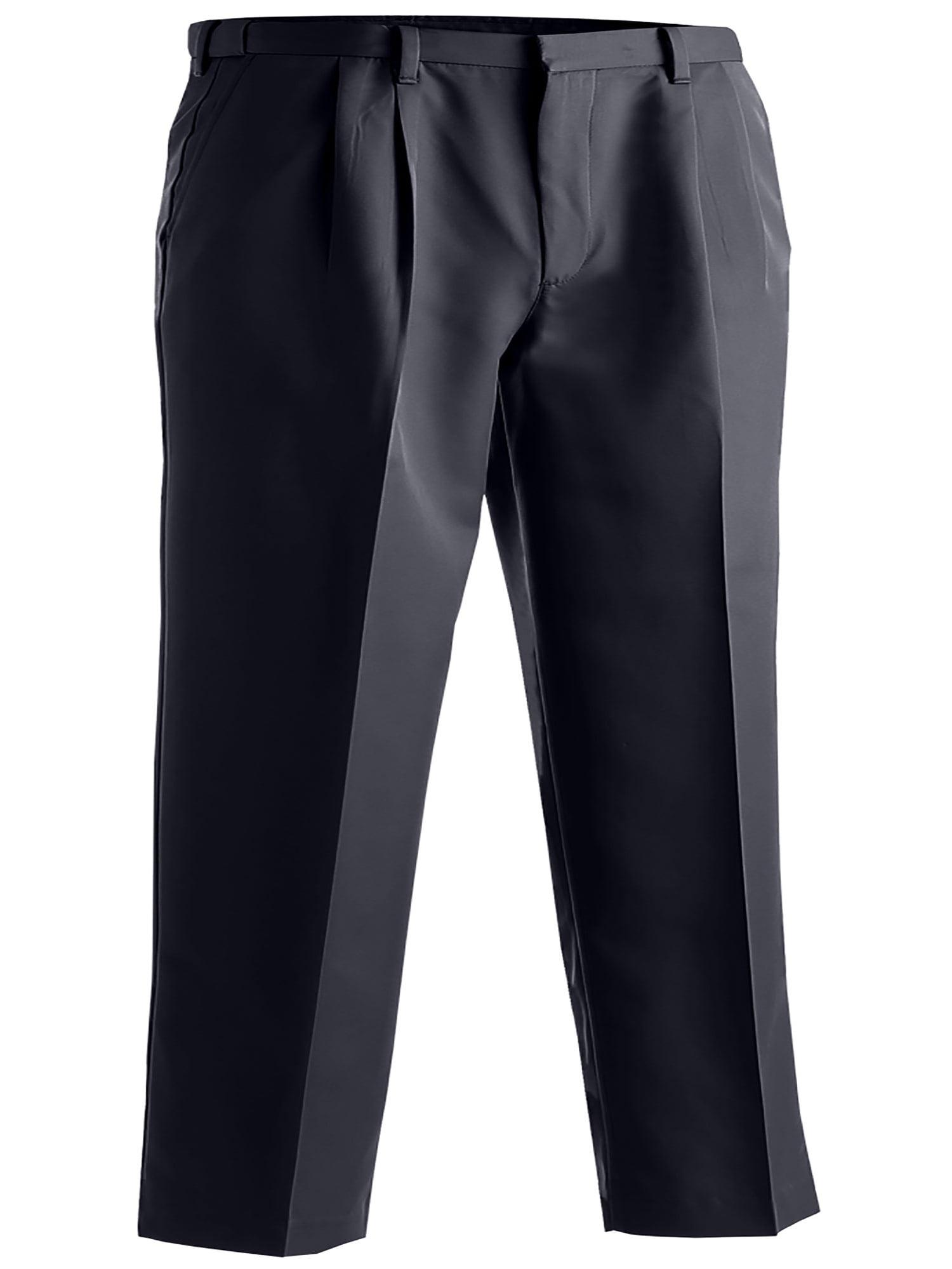 38 Edwards Garments Mens Microfiber Pleated Pant NAVY