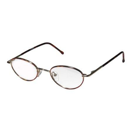 New Kla 0001 Unisex/Boys/Girls/Kids Designer Full-Rim Havana / Gold Classic Shape Affordable Adult Size Frame Demo Lenses 42-18-120 Flexible Hinges Eyeglasses/Glasses ()