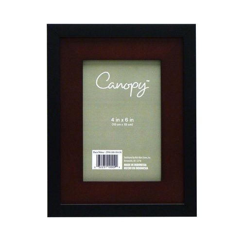 "Canopy 4"" x 6"" Wood Photo Frame, Black Finish"