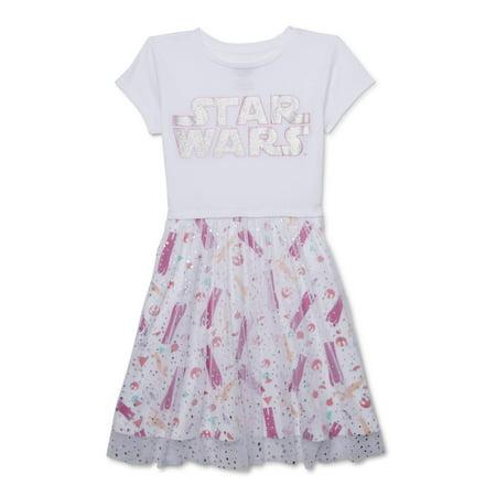 Designer Girls Dresses Sale (Star Wars Girls' 4-16 Foil Mesh Tutu)