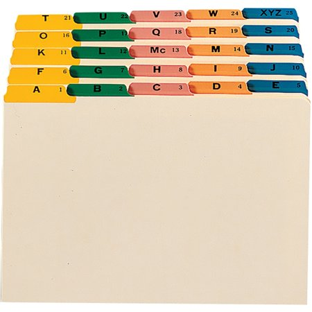 Blue Filing Guide - Smead, SMD52180, Alpha Indexing Heavyweight Manila Filing Guides, 25 / Set