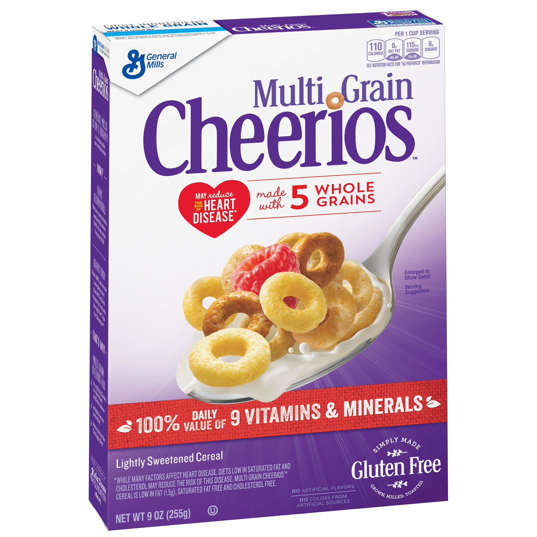 (3 Pack) Multi Grain Cheerios Gluten Free Breakfast Cereal, 9 oz