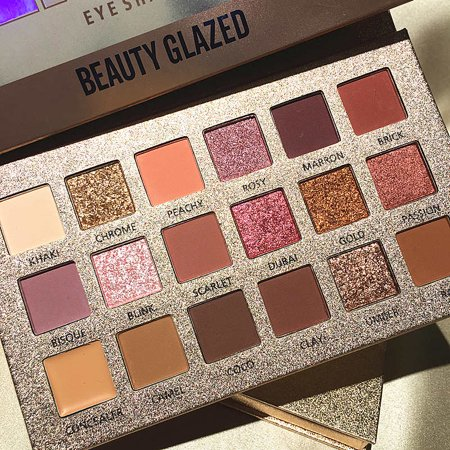 Beauty Glazed Makeup Palette Eyes Shadow Easy To Wear Eyeshadow Natural Matte Shimmer Long-lasting Eye Shadow 18 Colors The Latest Fashion Beauty Essentials Beauty & Health