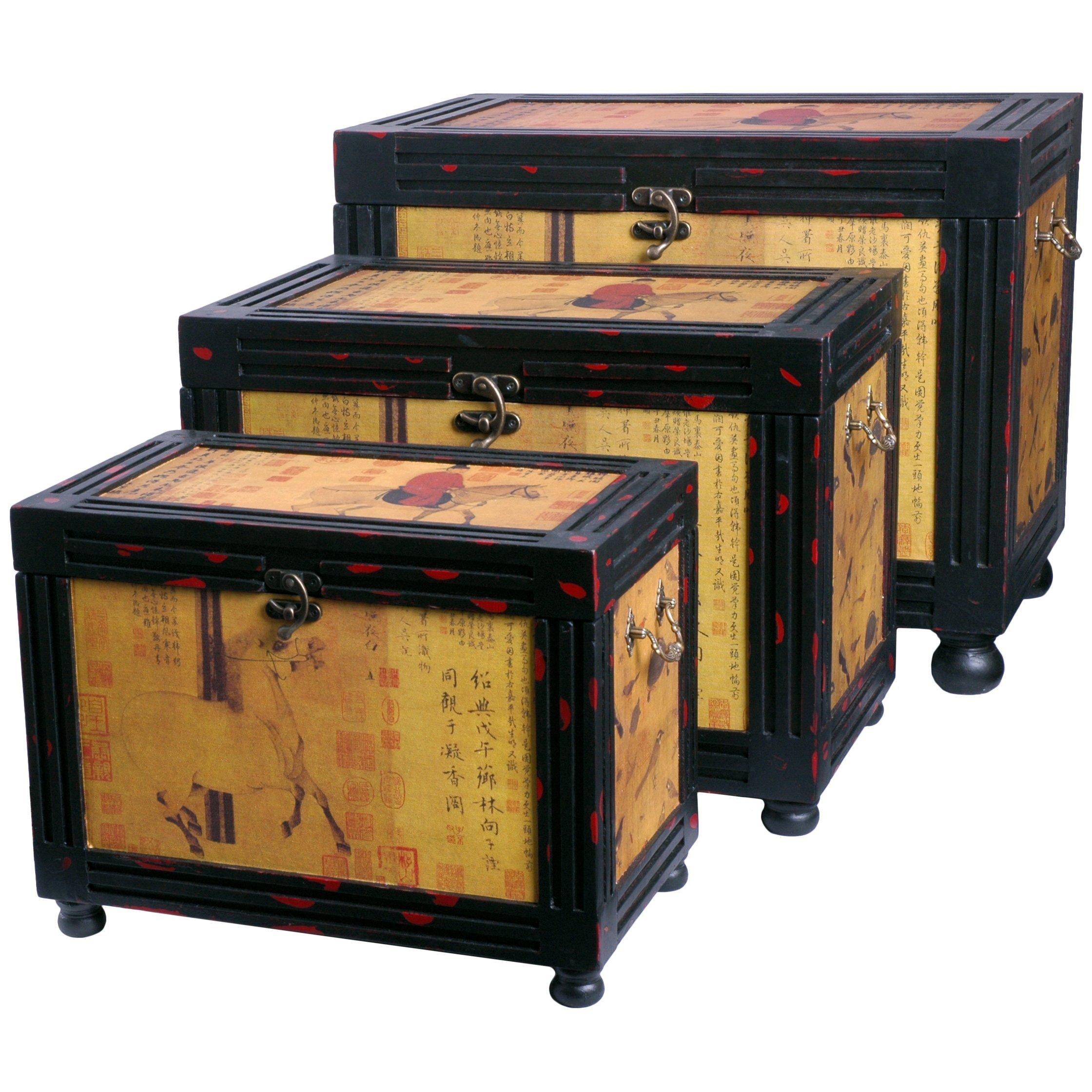 Oriental Home Raging Stallions Storage Boxes (China)