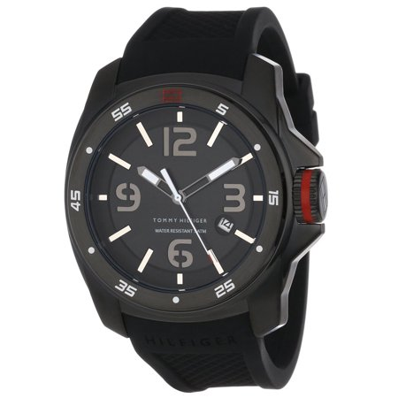 1790708 Tommy Hilfiger Mens Sport Black Ion Silicon Watch