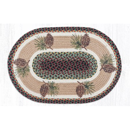 - Earth Rugs OP-81 Pinecone Oval Patch 20