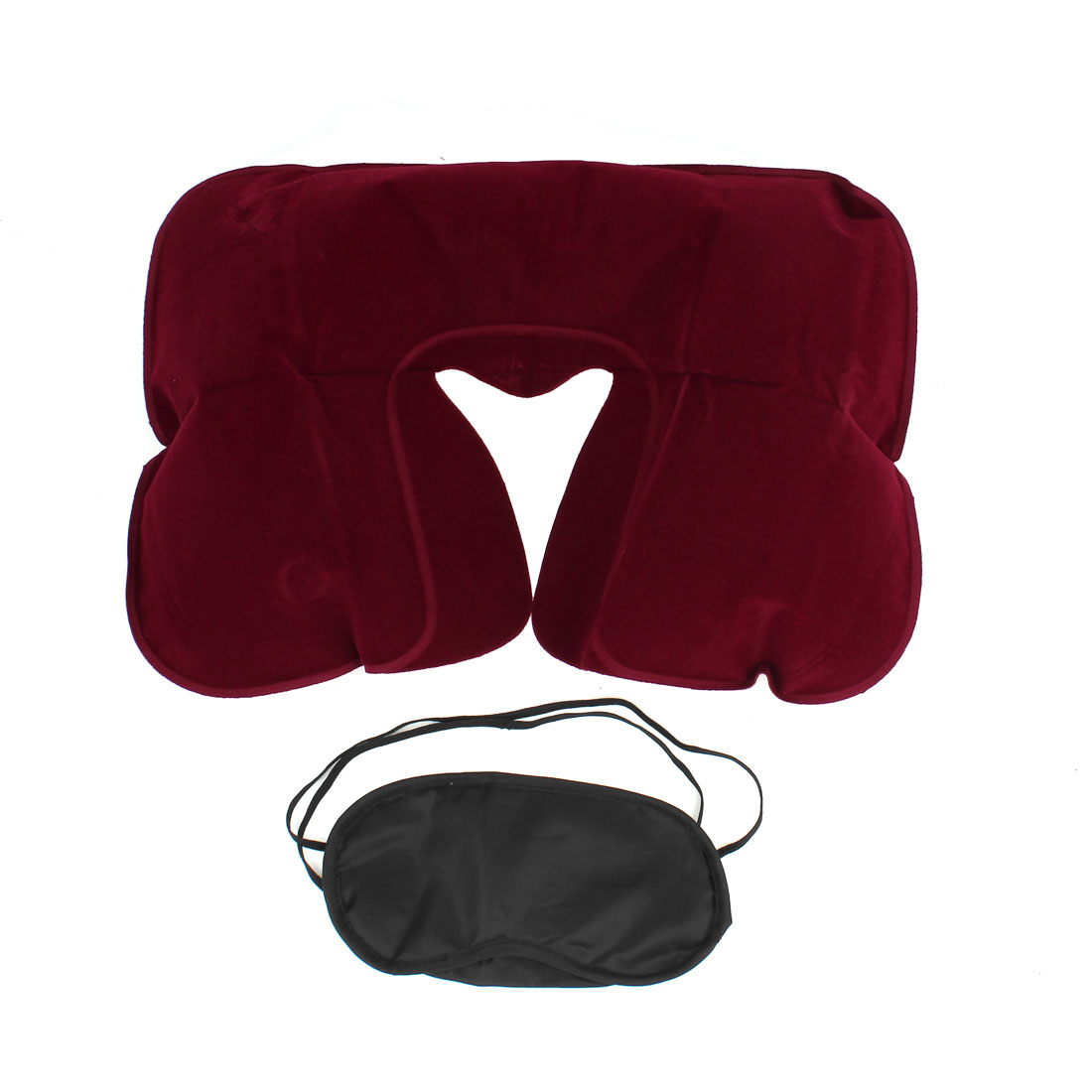 Unique Bargains Air Pillow + Eyeshade + Ear Plug Relaxing Set Package 3 In 1