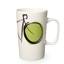 Starbucks 2015 Dot Collection Green Bicycle Ceramic Coffee Mug Cup 16 oz