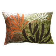 Koko Company Ecco Rust & Brown Leaves Decorative Pillow