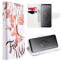 MUNDAZE Wild and Free Faux Leather Wallet Case For Samsung Galaxy S9 PLUS Phone