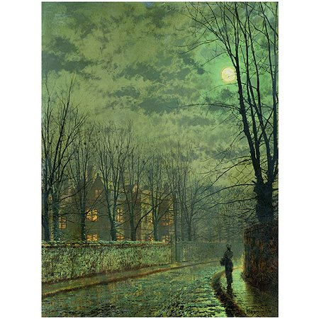 "Trademark Fine Art ""Going Home by Moonlight"" Canvas Art by John Grimshaw"