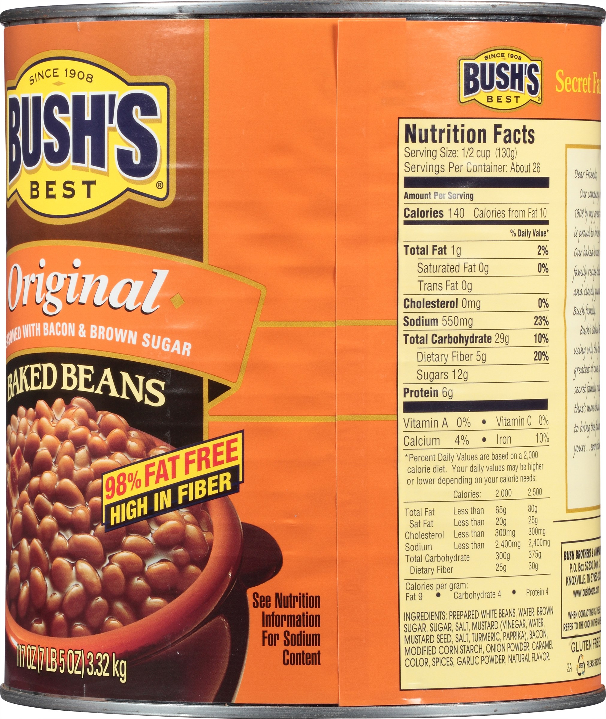 bush's baked beans calories