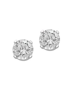 14K White Gold & 0.32 TCW Diamond Stud Earrings