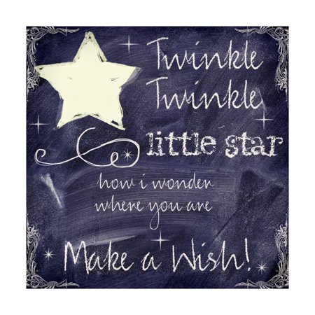 Chalkboard Nursery Rhymes I Print Wall Art By Mindy Sommers (Nursery Rhyme Wall Art)