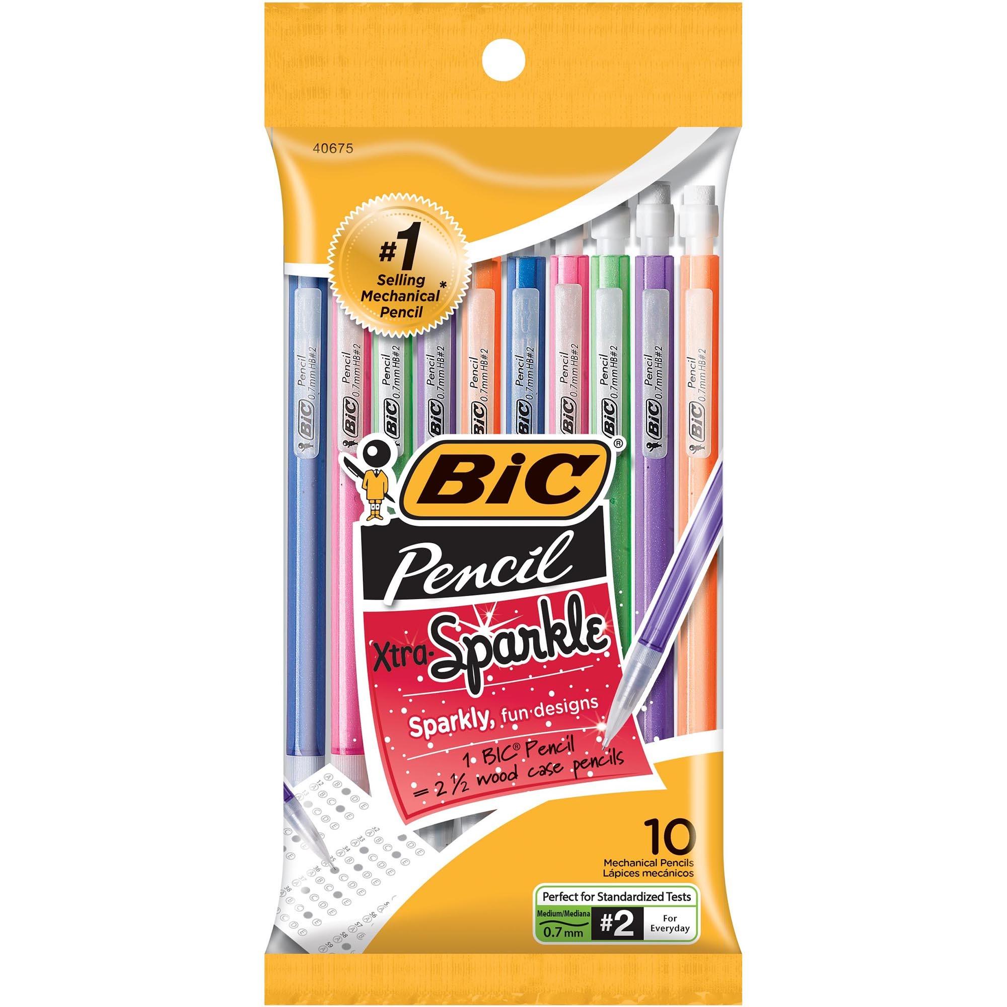 bic pencil xtra sparkle mechanical pencil colorful barrel