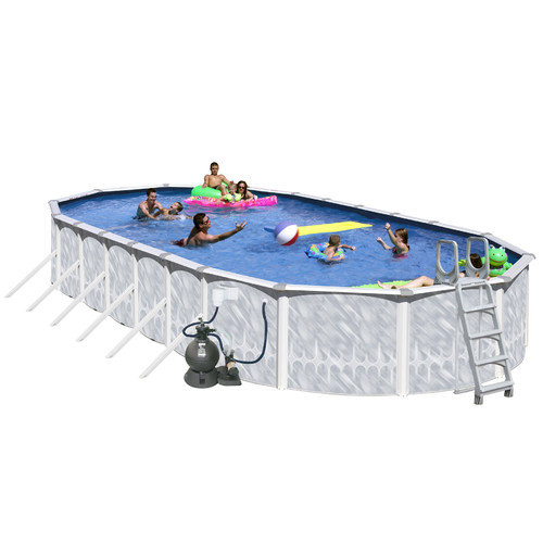 Heritage Pools Oval 52'' Deep Tango Above Ground Complete Deluxe Pool Package