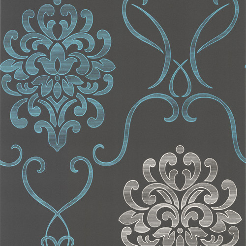 Brewster Home Fashions Accents Suzette Modern 33' x 20.5'' Damask 3D Embossed Wallpaper