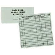 10 Pack Large Print Low Vision Checkbook Transaction Registers