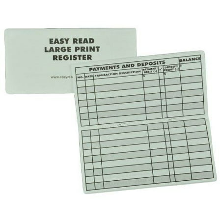 10 Pack Large Print Low Vision Checkbook Transaction Registers