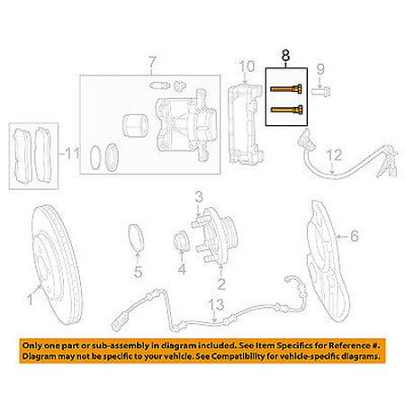 Chrysler Oem Brake Front Caliper Assembly Bolt 5137614aa Walmart