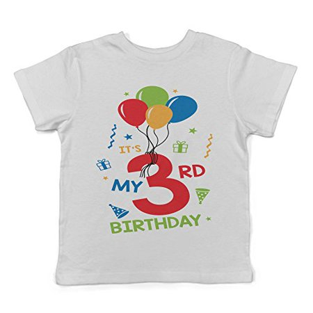 Lil Shirts It's My 3rd Birthday Toddler T-Shirt (Today It's My Birthday)