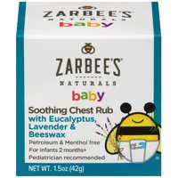 Zarbee's Naturals Baby Soothing Chest Rub, Eucalyptus, Lavender & Beeswax, 1.5 oz