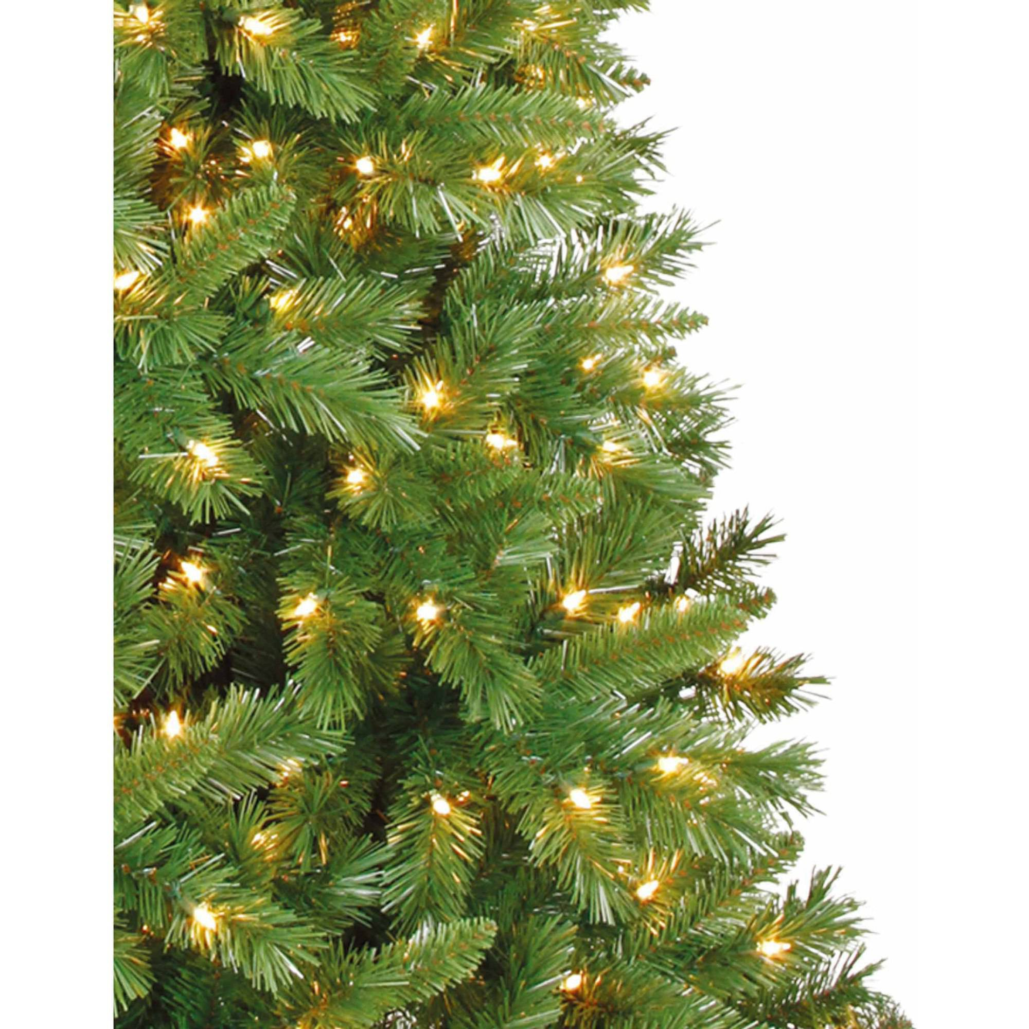 Artificial Christmas Tree Pre-Lit 7.5' Kennedy Fir, Clear Lights ...