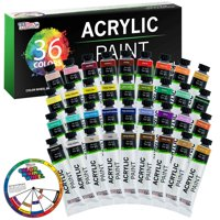 U.S. Art Supply Professional 36 Color Set of Acrylic Paint in Large 18ml Tubes - Rich Vivid Colors for Artists, Students