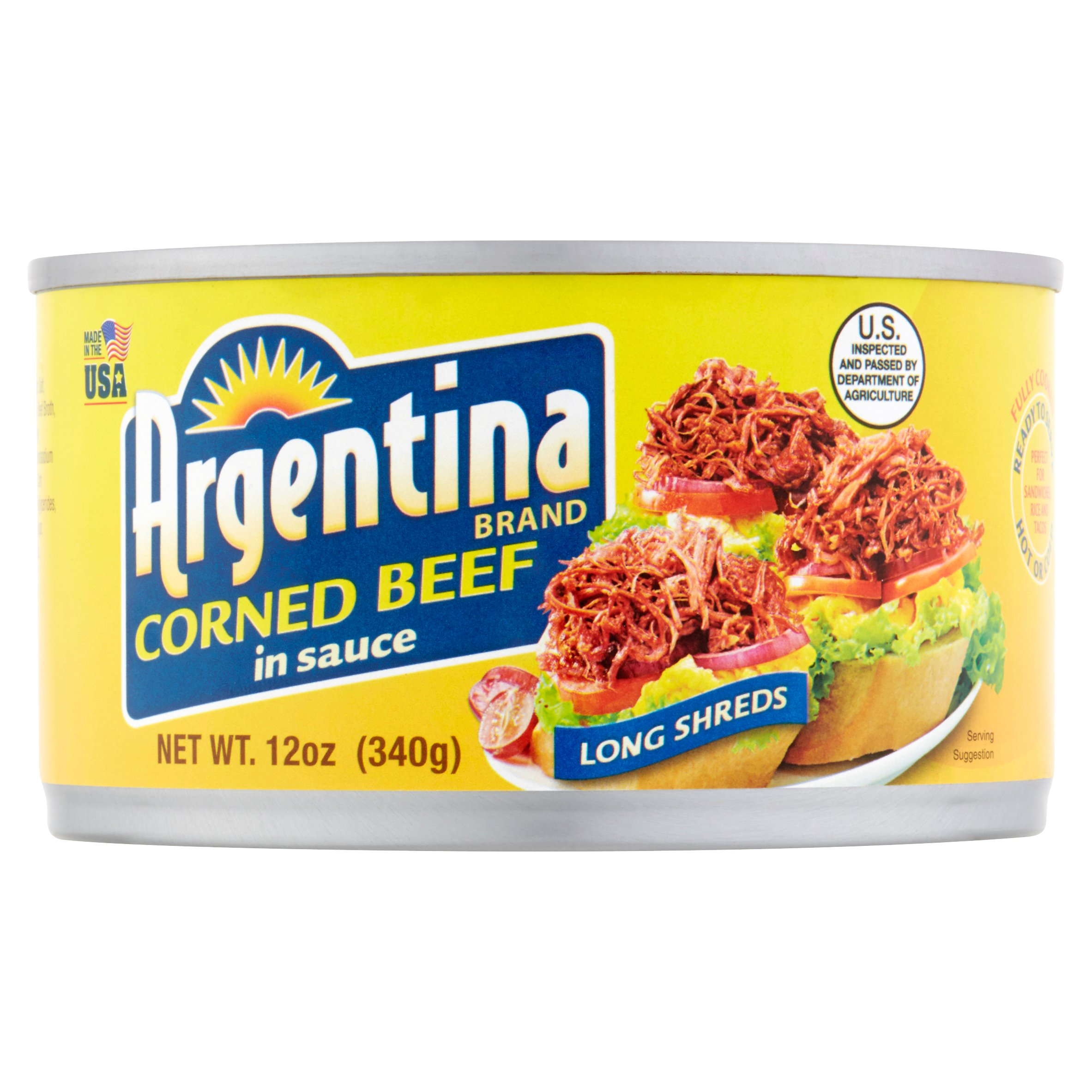 Argentina Brand Corned Beef in Sauce, 12 oz by The Pacific Meat Co., Inc.,