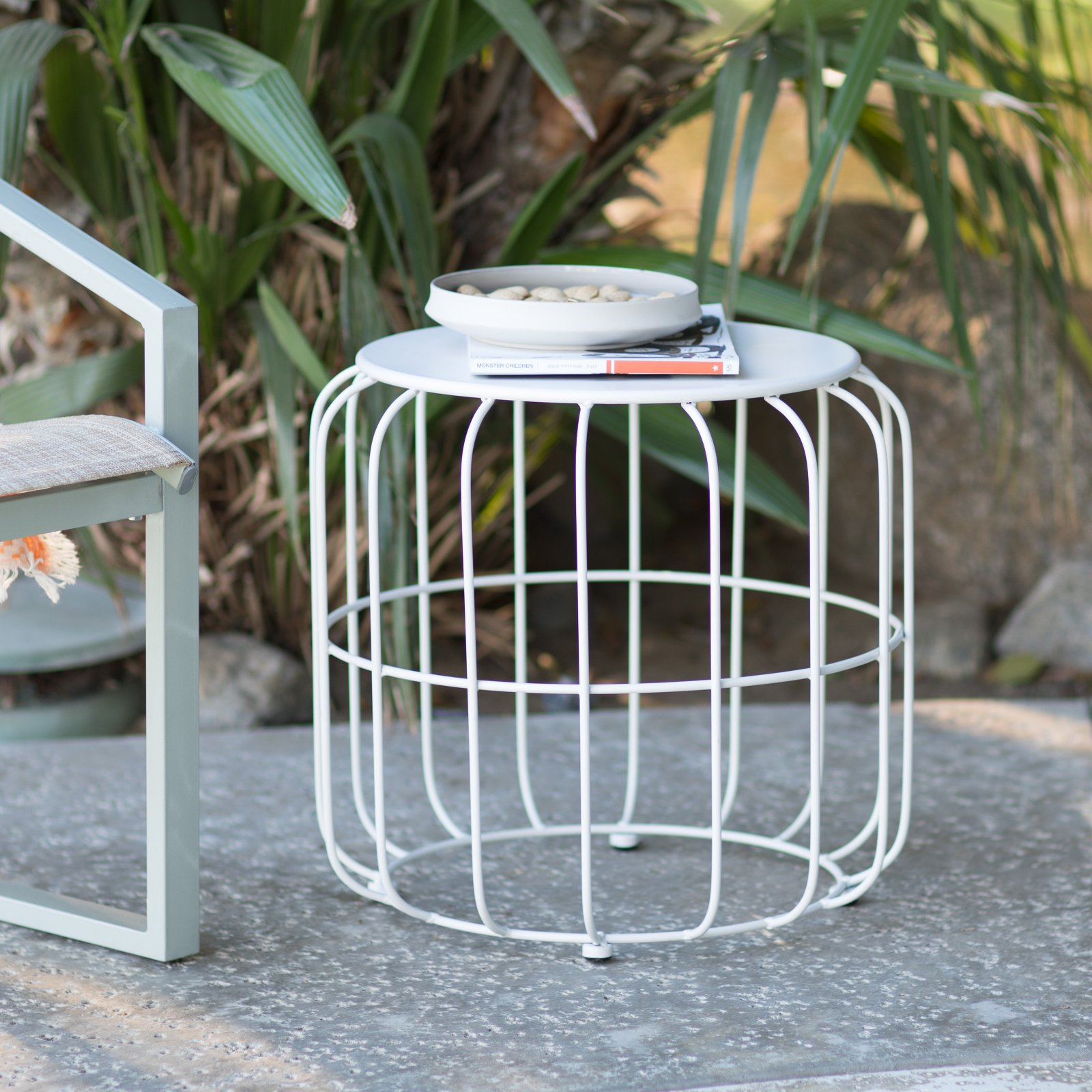 Coral Coast Abbeston Steel Wire Patio Side Table by Shenzhen Sunwell Industrial Co Ltd