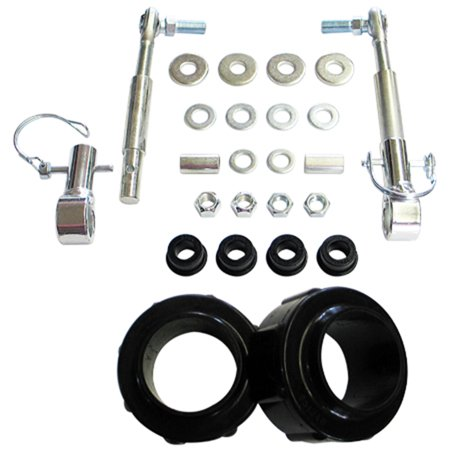 Daystar PAJL175DPA Coil Spring Leveling System; 1.75 in. Front Lift; Incl. 2 1 3/4 in. Polyurethane Coil Spring Spacers; 2 CNC Machined Quick Disc. Sway Bar End Links;