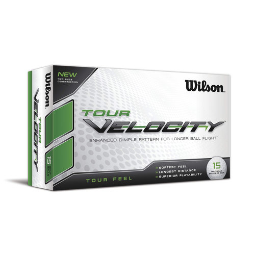 Wilson Tour Velocity Feel Golf Balls, 12pk