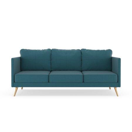 Aegean Weave Fish - Monroe Sofa Oxford Weave - Aegean Blue