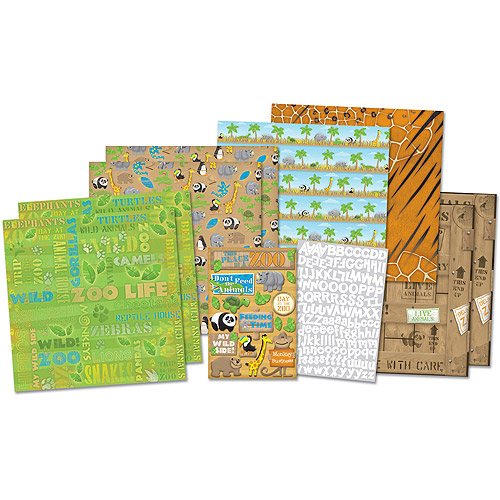 Karen Foster Zoo Life Scrapbook Page Kit