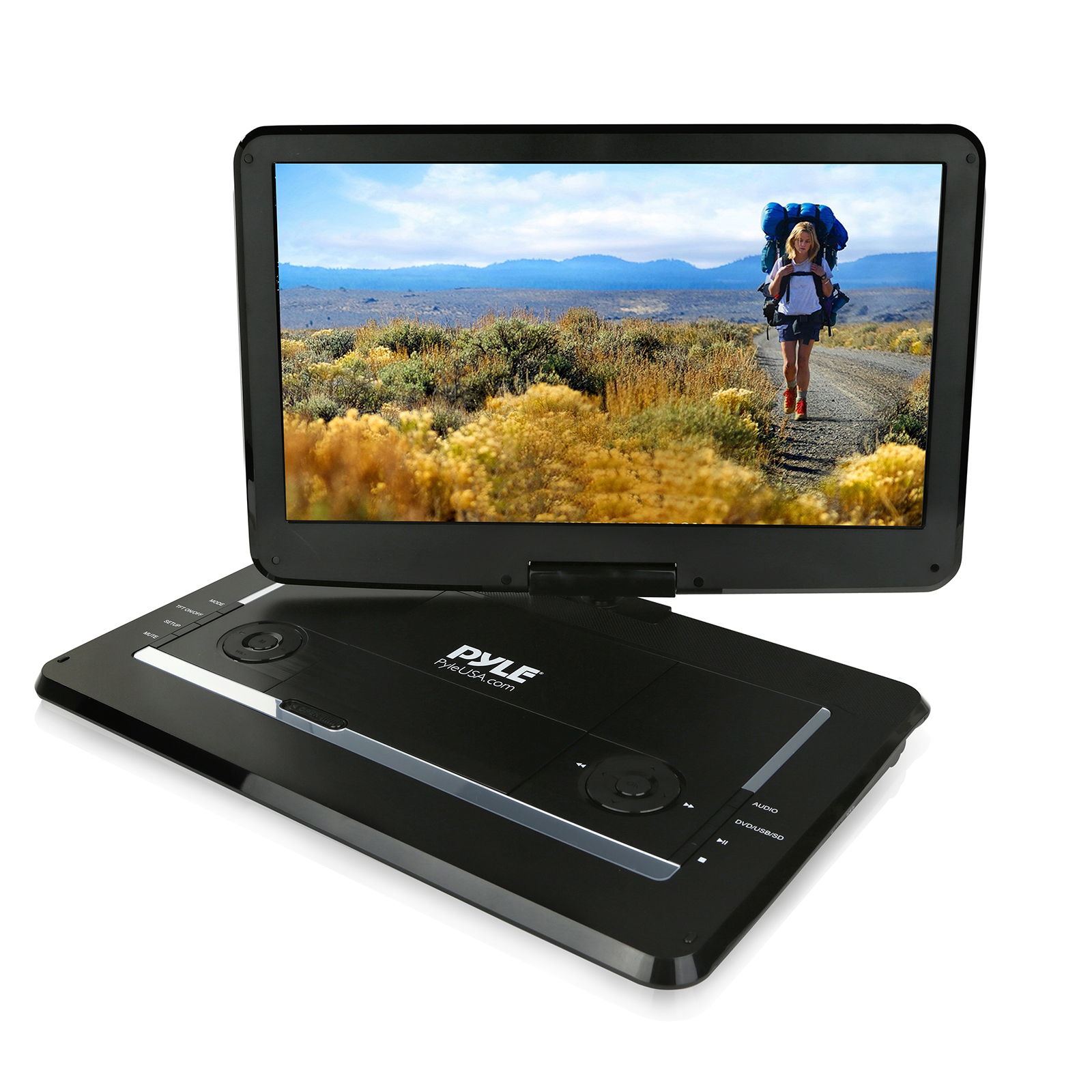 "15"" Portable CD DVD Player, HD Widescreen Display, Built-in Battery, USB SD Card Memory Readers by Pyle"