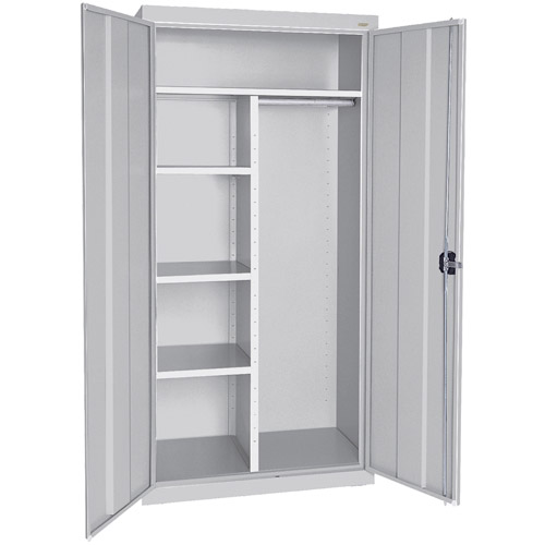 """Elite Series Combination Cabinet with Adjustable Shelves, 36""""W x 24""""D x 78""""H, Dove Gray"""