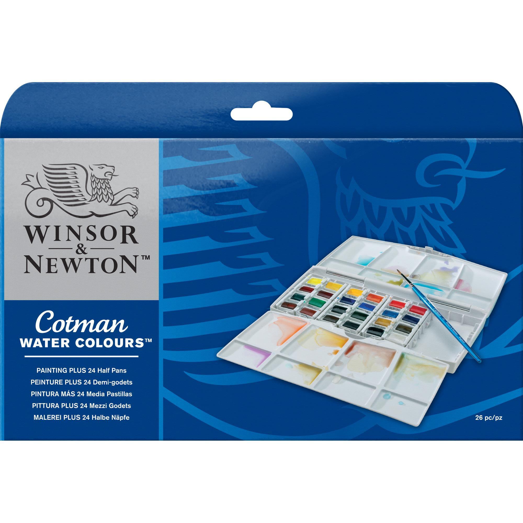 Winsor & Newton Cotman Watercolor - Painting PLUS 24 Half Pan Set
