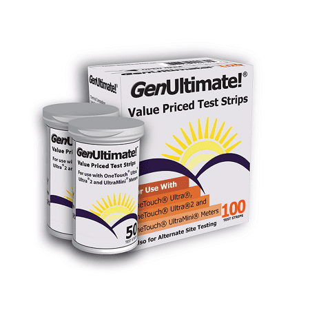 GenUltimate!® Test Strips 1box (100 ct) for your OneTouch® Ultra®
