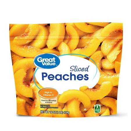 Great Value Frozen Sliced Peaches, 16 oz - Walmart com