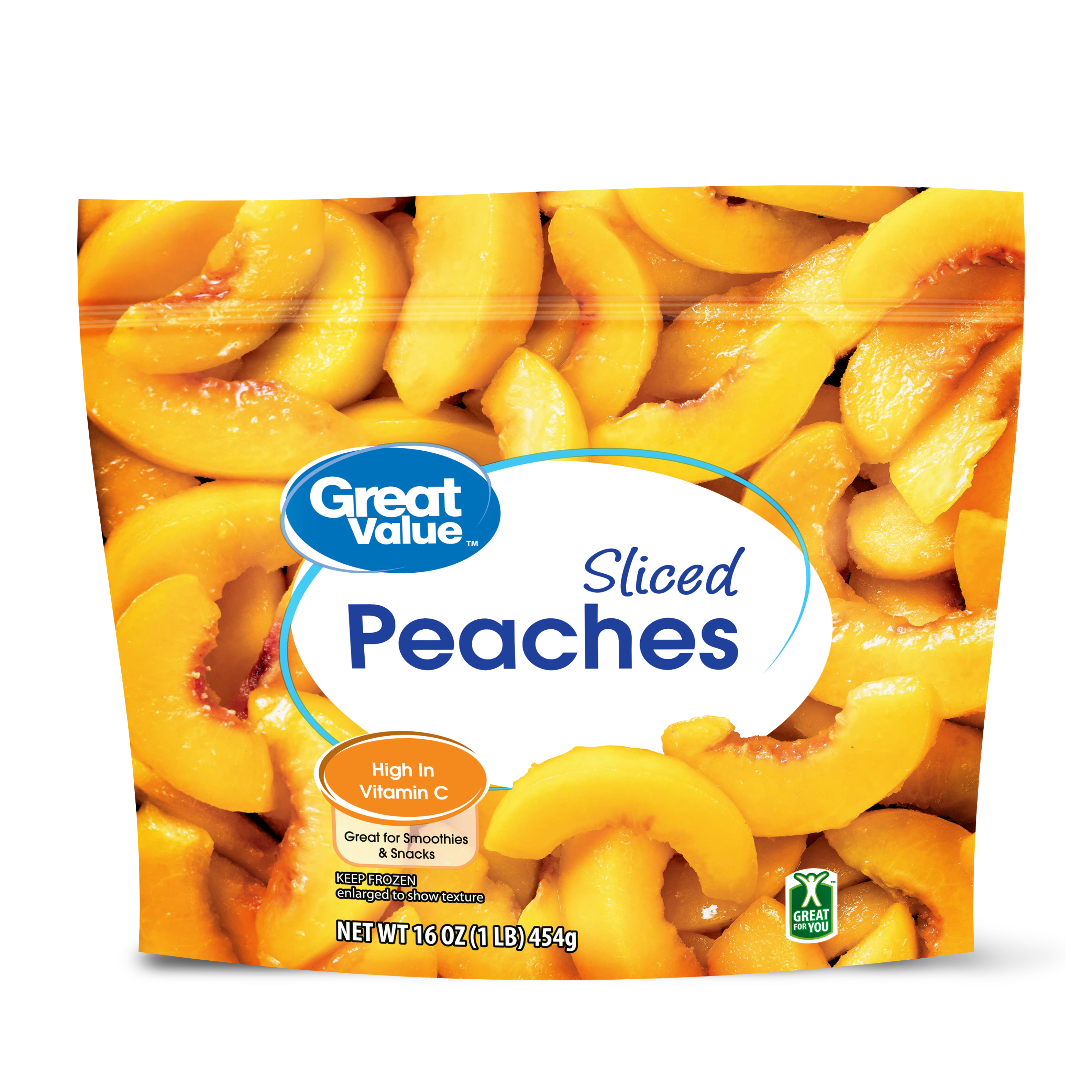 Great Value Sliced Peaches, 16 oz