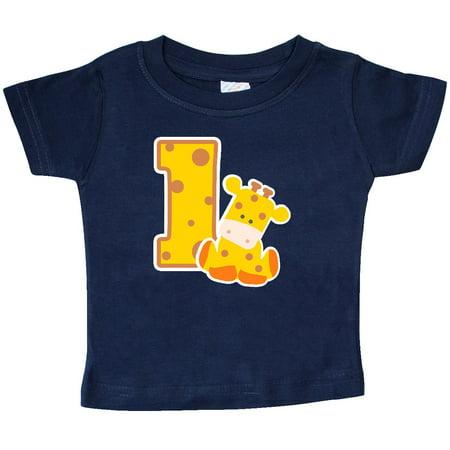 Inktastic 1St Birthday Giraffe Baby T Shirt Bday First Cute T Shirt Infant Tees