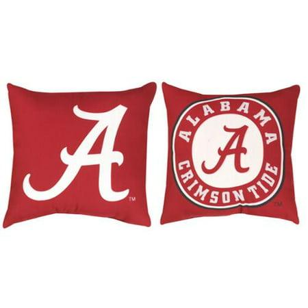 NCAA Alabama Crimson Tide Indoor/Outdoor Patio Deck Throw Pillow 20