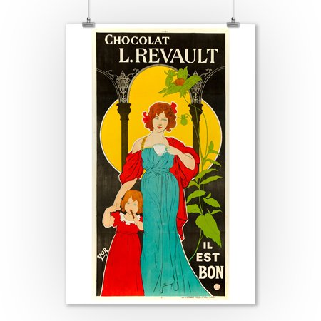 Chocolat L Revault Vintage Poster Artist Yor France C 1895 9x12