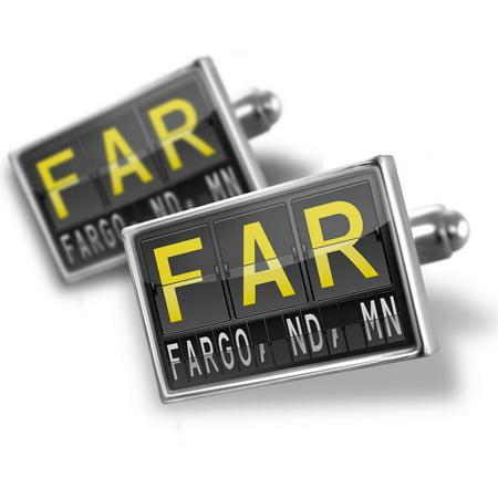 Cufflinks FAR Airport Code for Fargo, ND, MN - NEONBLOND (Fargo Nd Time Zone)
