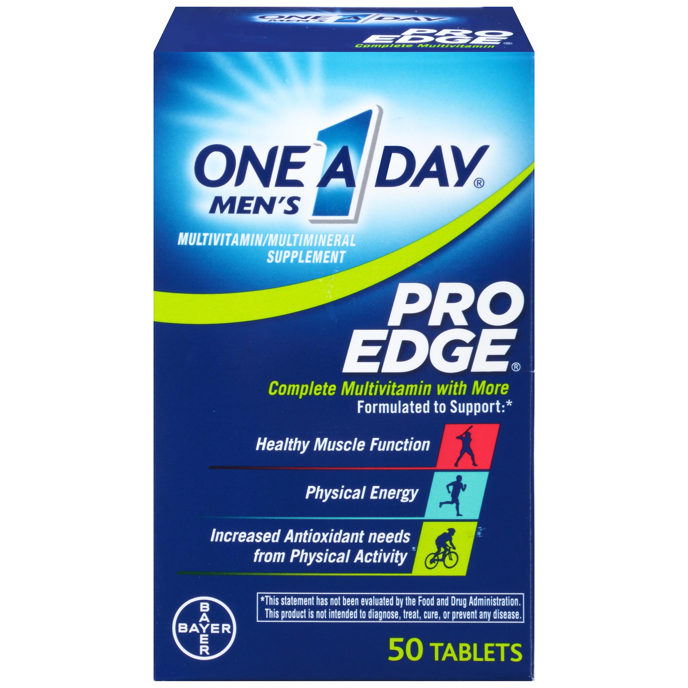 One A Day Men's Pro Edge Multivitamin, 50 Count