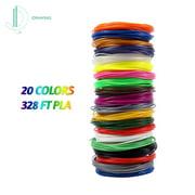 IDRAWING Filament de PLA haute précision de 1,75 mm de filament respectueux de l'environnement, stylo 3D recharges 20 couleurs