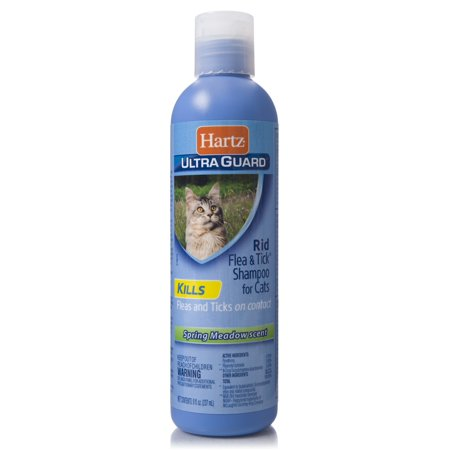 Hartz UltraGuard Rid Flea & Tick Shampoo for Cats, 8 (Flea Cleansing Shampoo)