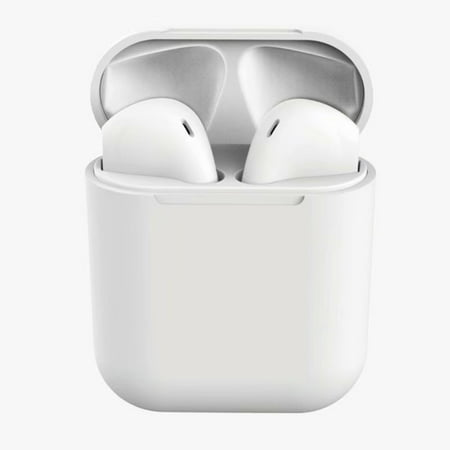 I12 TWS Earbuds Wireless Bluetooth V5.0 Touch Earphone Stereo Headphone With 300mAh Charge Box Earphone For iPhone Android Phones White